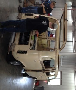This Volkswagen Van arrived ready for a full restoration. Here we are starting the tear-down process.